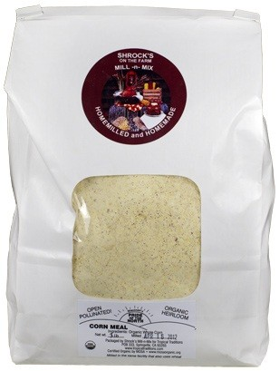 photo of organic corn meal GMO-free