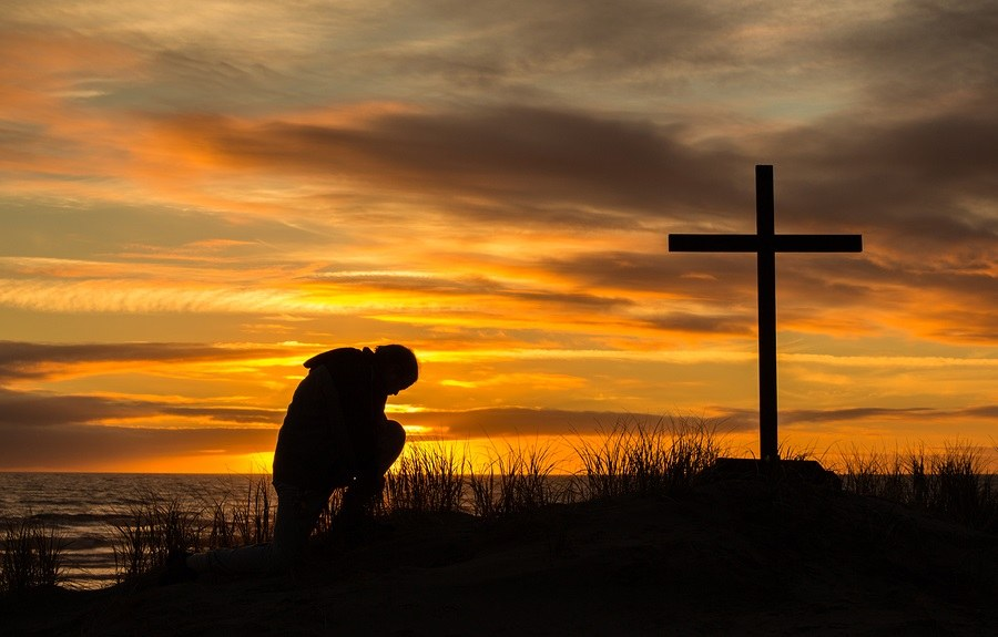 Sunset Man Of Prayer