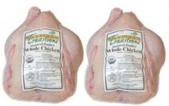 2 whole organic roaster chickens pastured poultry