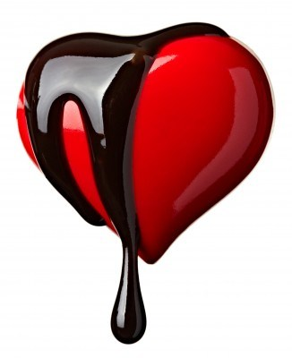 image of chocolate covered heart
