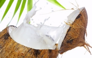 image of coconut and coconut milk
