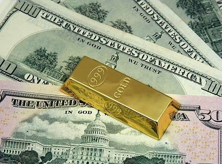 photo of money and gold bar