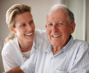 picture of senior man with daughter