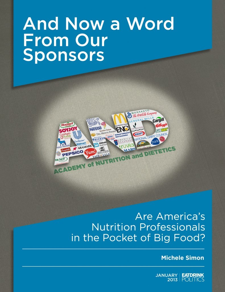 Academy of Nutrition and Dietetics Report Cover