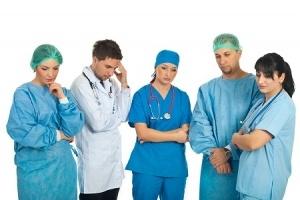 Sad medical personnel