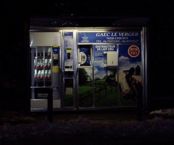 Raw milk vending machines, such as this on in France, are popping up all over Europe. Photo courtesy of  cernlove.org