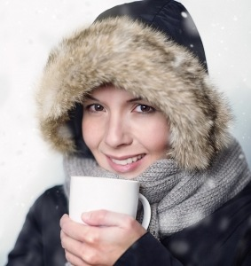Pretty Young Woman In Warm Winter Fashion