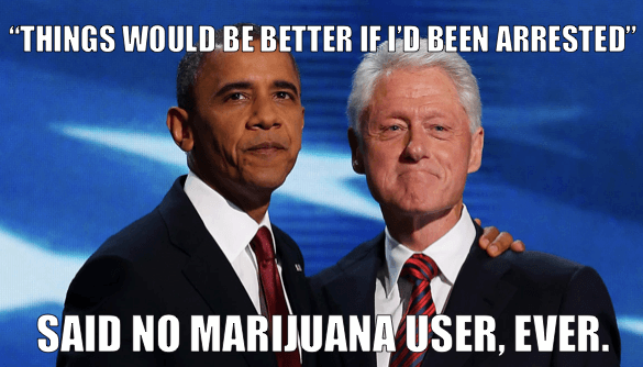 Would these two men have achieved the success they did if they had been arrested when they were younger for using marijuana?