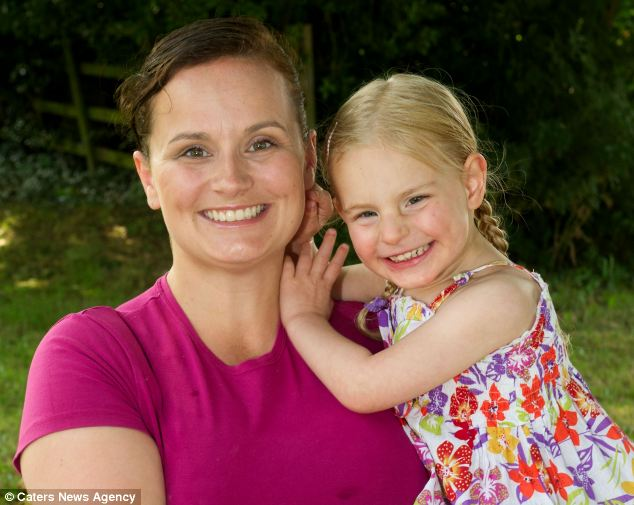 Mother Stevis Taylor, 34, is pictured with her daughter Fields, who suffers from extremely rare condition called Glut1 Deficiency. It it means her brain is starved of energy because her body cannot transport enough glucose to it. Her condition improved after starting the high fat Ketogenic diet. Photo courtesy of Daily Mail.
