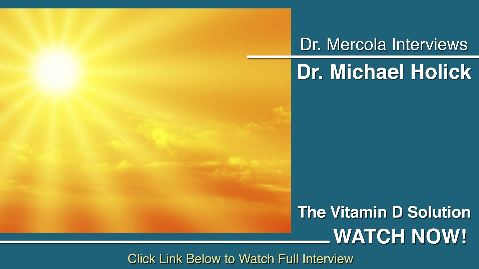 Vitamin D—One of the Simplest Solutions to Wide-Ranging Health Problems
