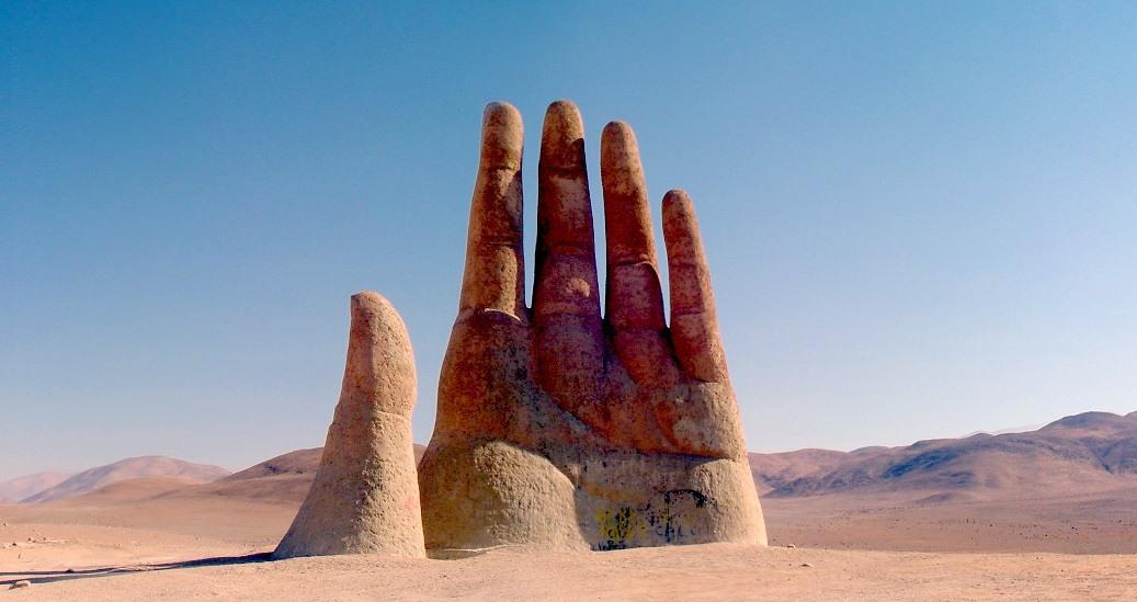 Panorámica de la Mano del Desierto