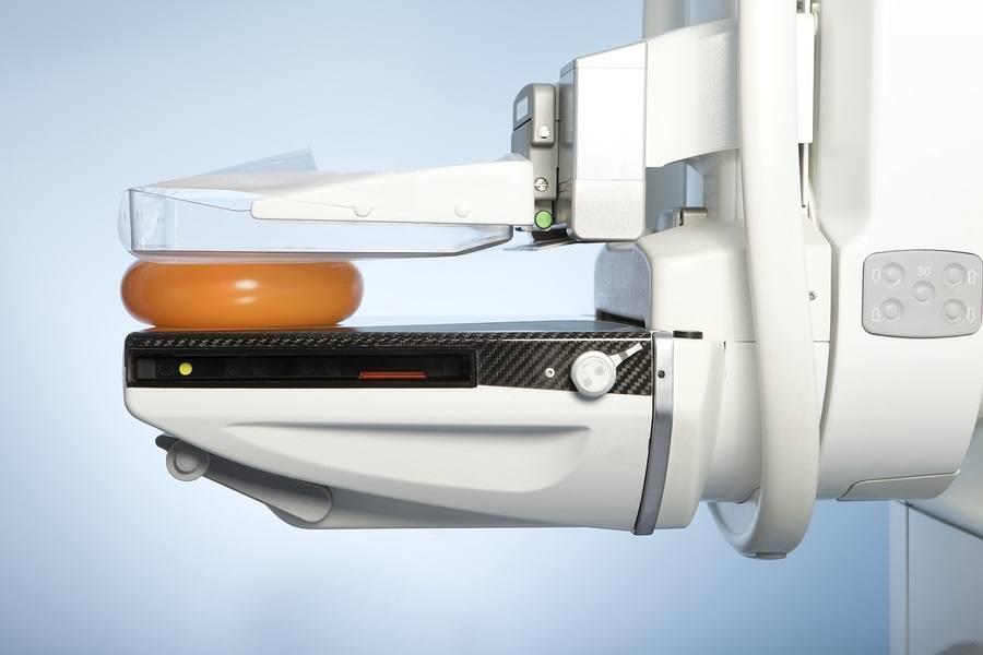 laboratory with mammography machine