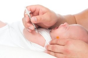 Doctor Vaccinating Child Baby Flu Injection Shot I