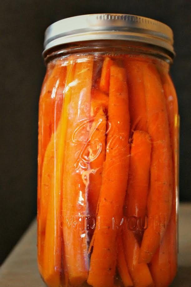 Simple Fermented Carrot Sticks