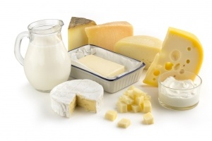assortment of milk products