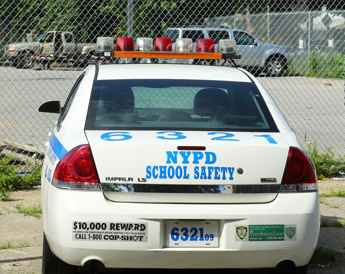 BROOKLYN, NY- JULY 14 :NYPD school  safety car in Brooklyn, NY on July 14, 2013. The New York Police Department, established in 1845, is the largest police force in US