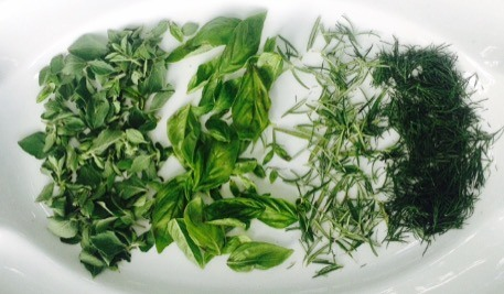 Herbs Stripped from the Stem