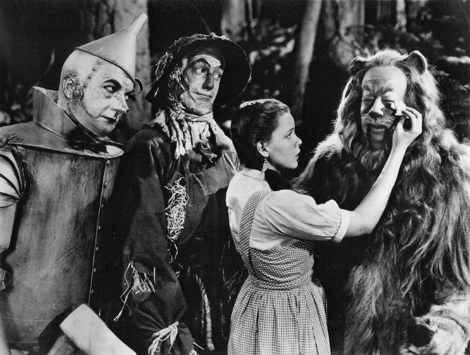 The_Wizard_of_Oz_Haley_Bolger_Garland_Lahr_1939