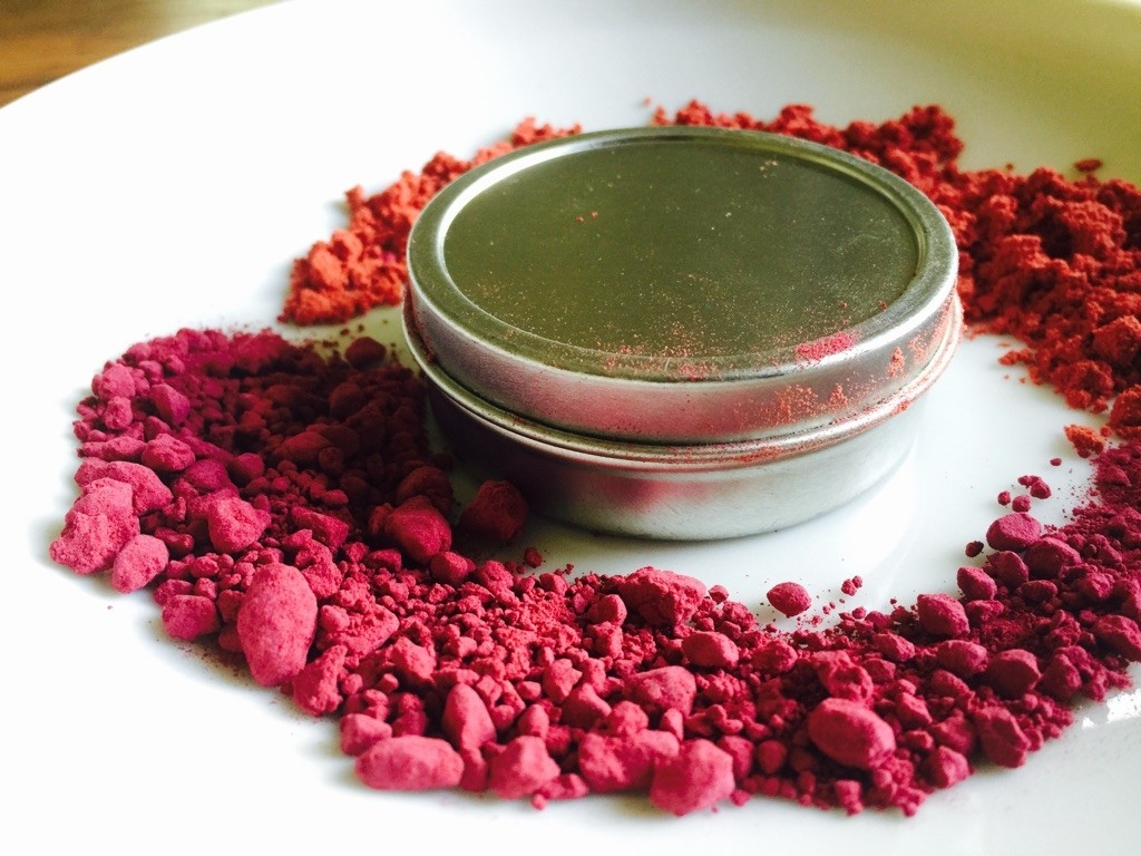 coconut cranberry lip balm in tin