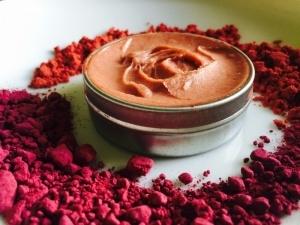 coconut cranberry lip balm open tin
