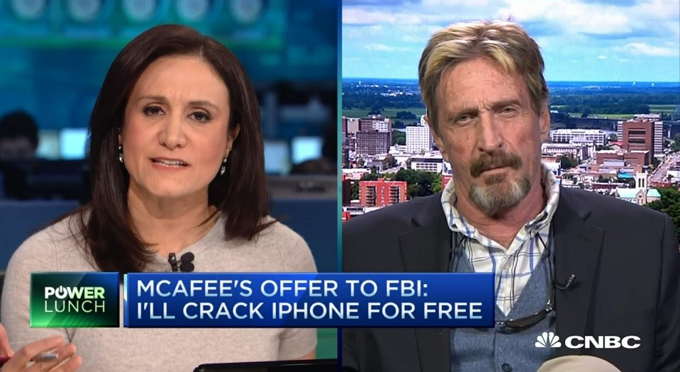 McAfee-CNBC screen shot