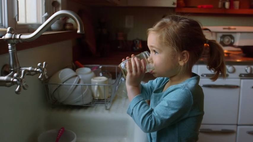 Girl-drinking-tap-water