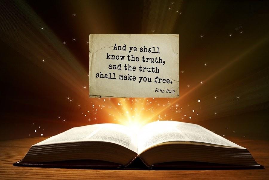 Open Bible John 8:32 truth