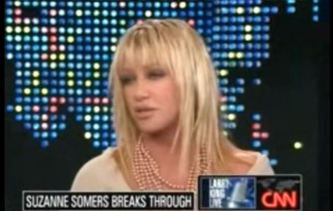 suzanne somers cancer larry king