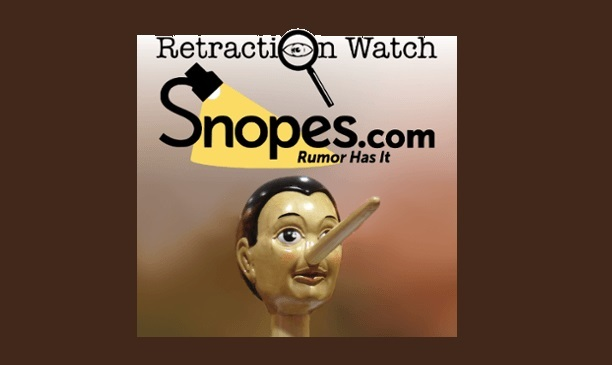 Snopes-Retraction Watch-Pinocchio-FB