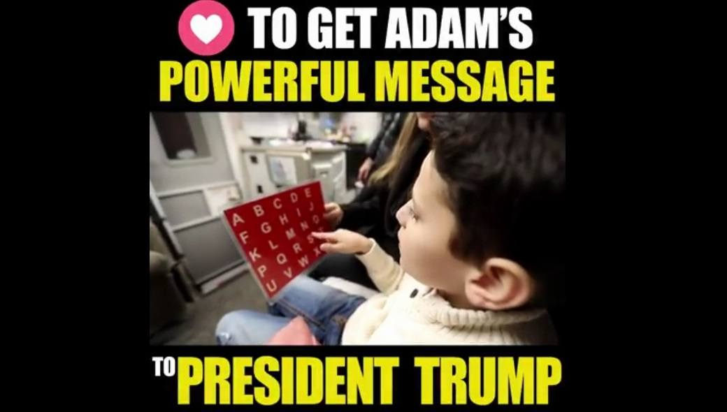 Adam-Autism-vaccine-injured-message-Trump-FB