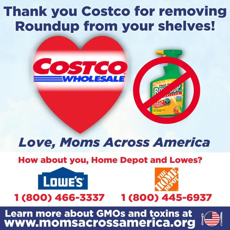 Moms Exposure To Monsanto Weed Killer >> Report Costco To Stop Selling Glyphosate Based Roundup Weed Killer