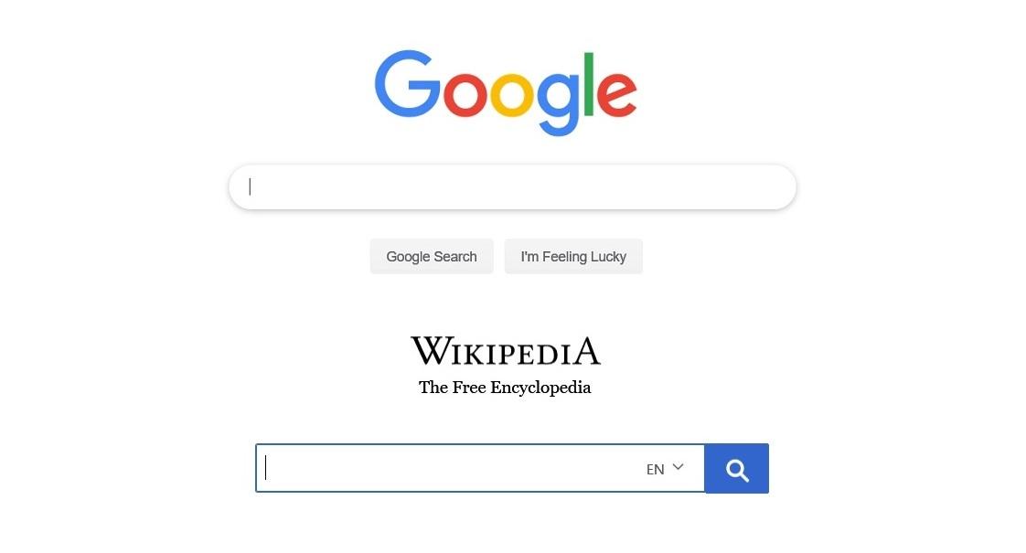 Google Wikipedia FB
