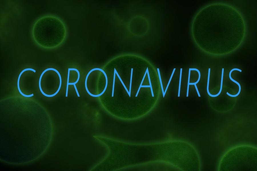 Illustrative Example Of New Chinese Coronavirus Written On Virus