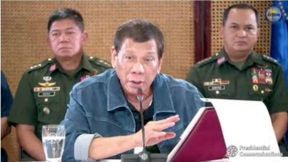 Philippine President Rodrigo Dutert