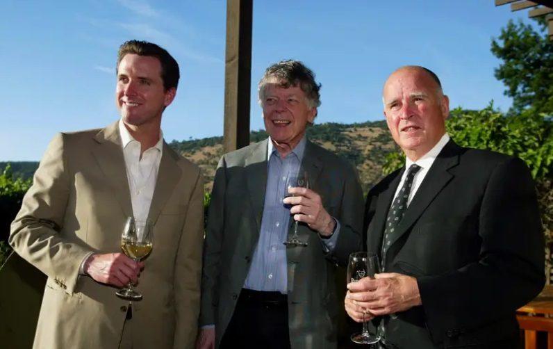 Gavin Newsom Gordon Getty Jerry Brown PlumpJack Winery