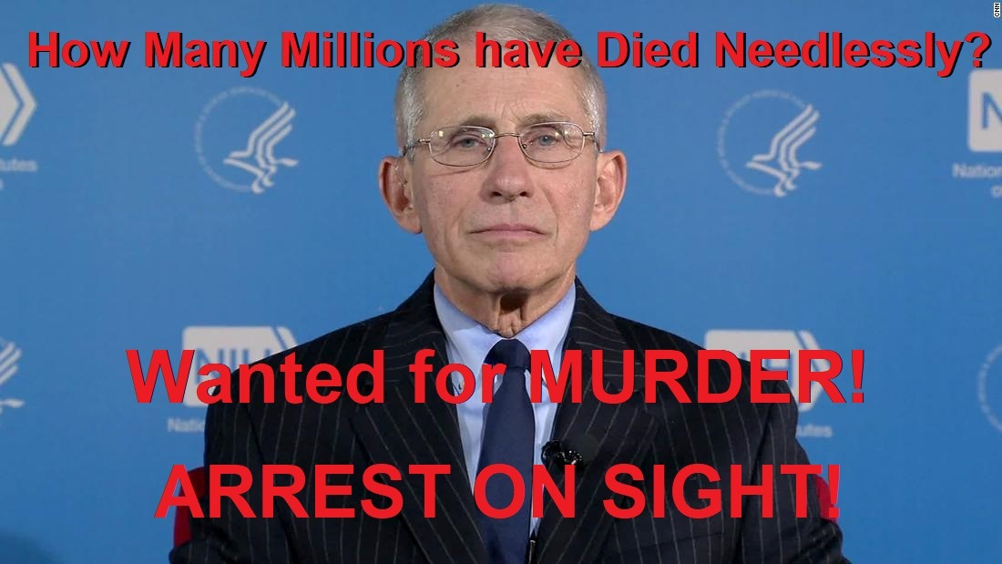 181 Dead in the U.S. During 2 Week Period From Experimental COVID Injections Anthony-Fauci-NIH-background-Arrest-2