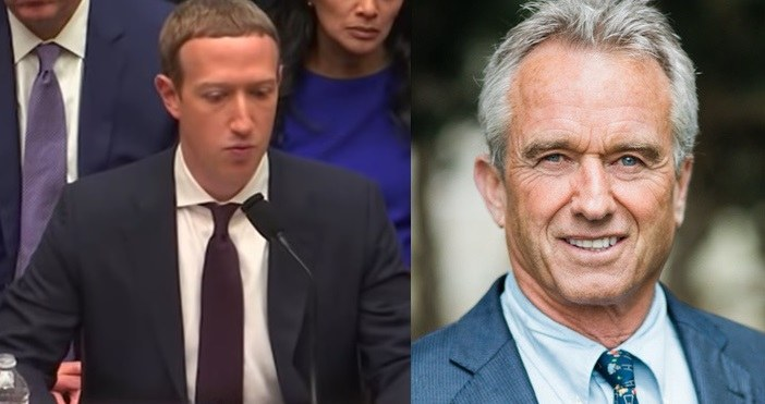 """Robert F. Kennedy, Jr. Sues Facebook and So-Called """"Fact-Checkers"""" Zuckerberg-Kennedy"""