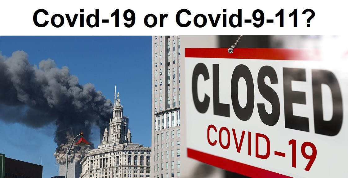 Closed businesses for COVID-19 pandemic outbreak, closure sign o