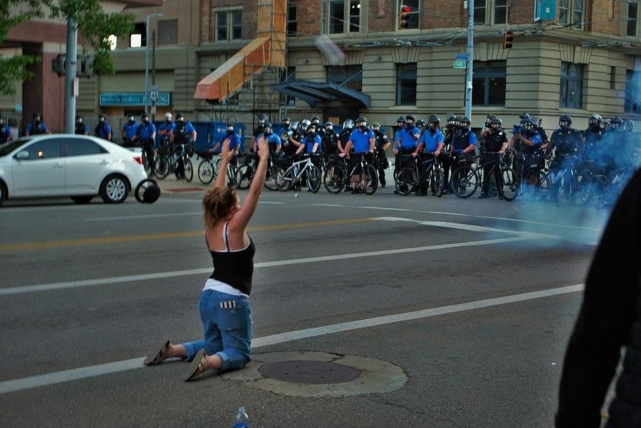 Dayton, Ohio United States 05/30/2020 Police Officers Deploying