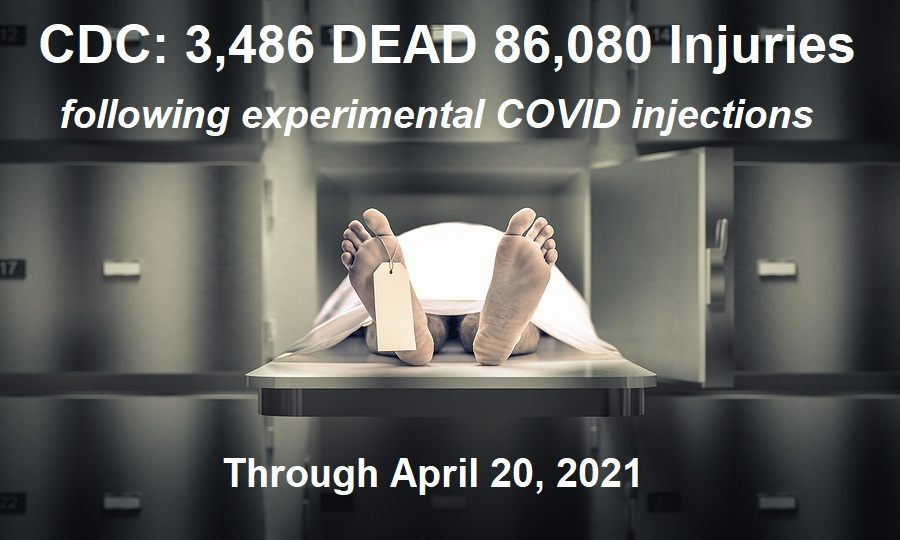 """7,766 DEAD 330,218 Injuries: European Database of Adverse Drug Reactions for COVID-19 """"Vaccines"""""""