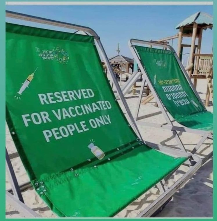 Government in Israel Sharing Personal Information on Unvaccinated People