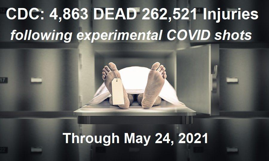 CDC 4863 Dead 262,521 Injuries