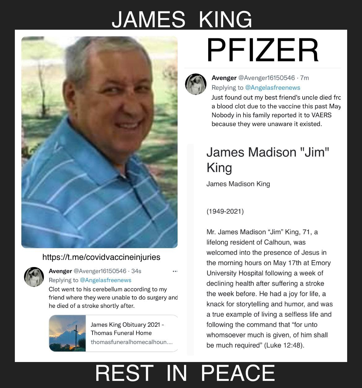 James King: Rest in Peace