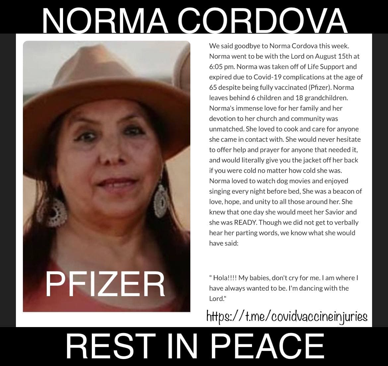 Rest In peace Norma Cordova
