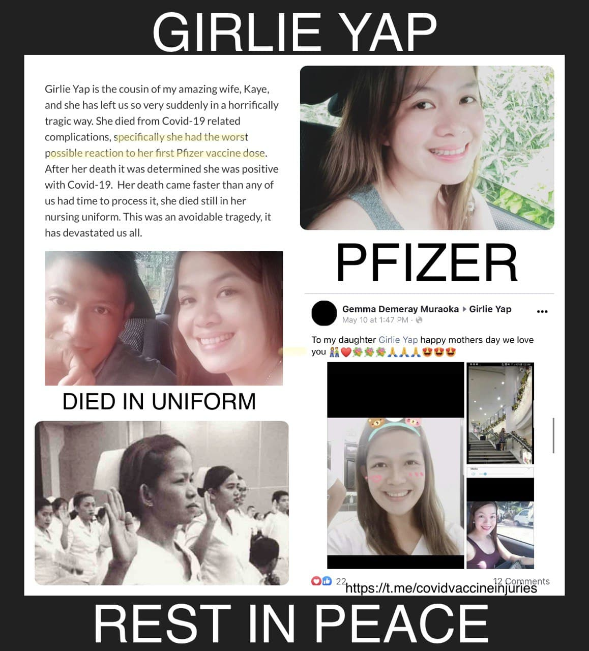 Girlie Yap: Rest In Peace