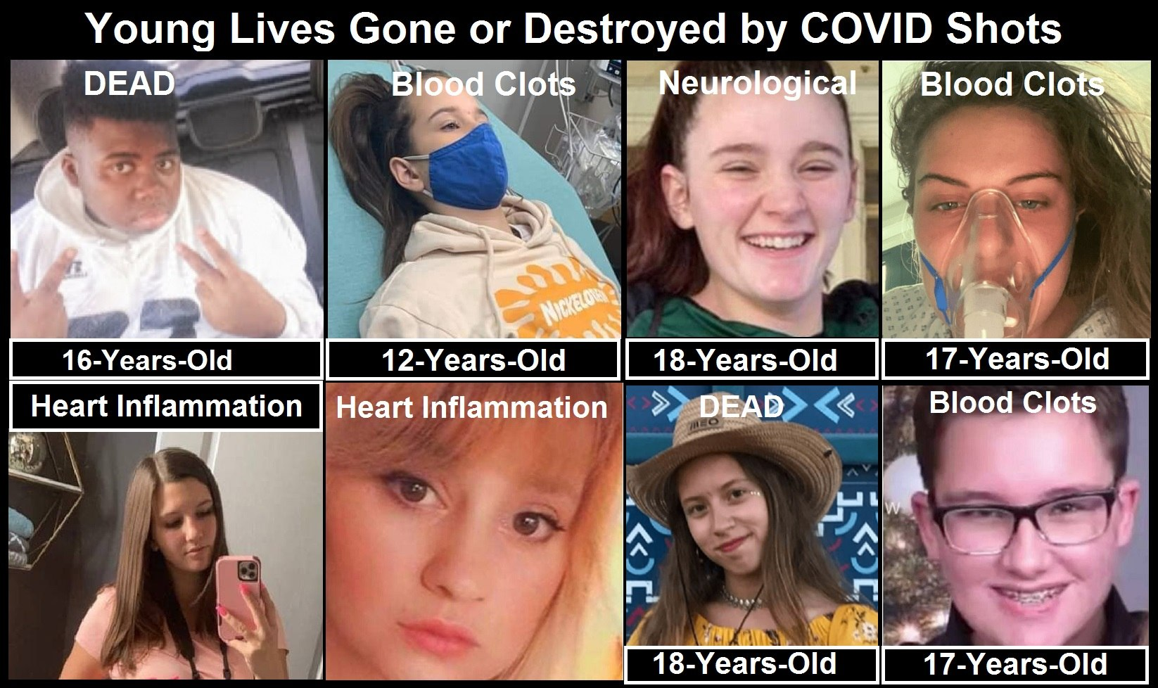 COVID Shots Are Killing and Crippling Teens in Record Numbers – Young Children Are Next Children-Dying-from-COVID-Shots