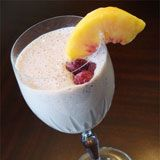 Raspberry Peach Melba Smoothie Recipe Photo