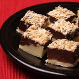 Black and White Toasted Coconut Fudge Recipe Photo