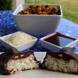 Chocolate Almond Coconut Bites Recipe Photo