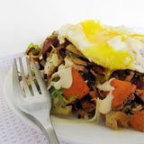 Coco-NUT-ty Sweet Potato & Brussels Hash Recipe Photo